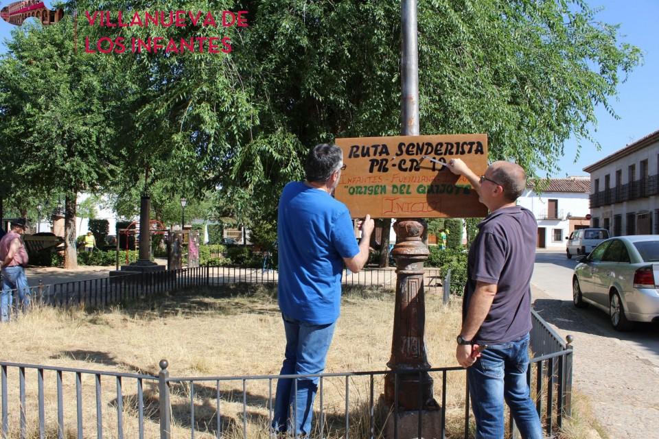 Señalización de la Ruta Senderista Infantes-Fuenllana-Infantes