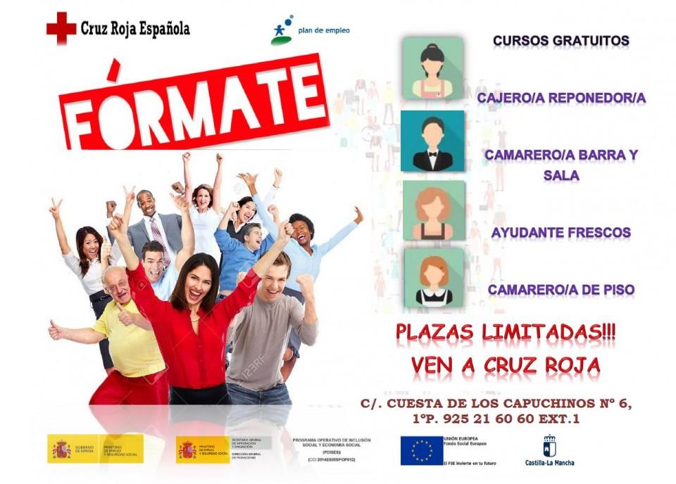 Cursos gratuitos para desempleados  Cruz Roja Toledo