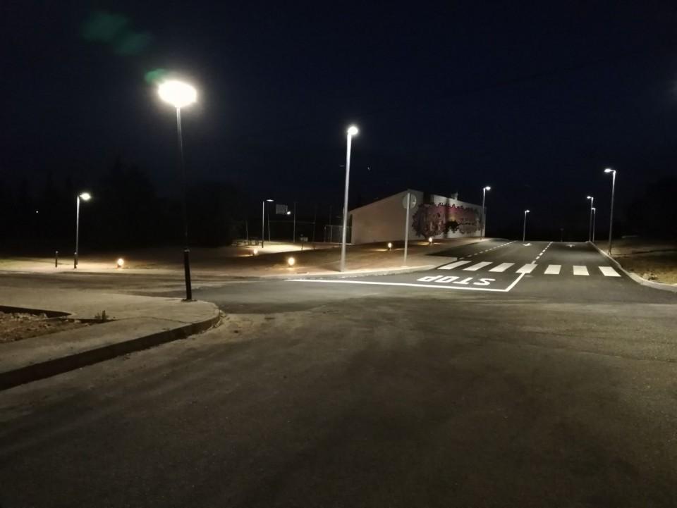 Terminada la sustitución de la iluminación en el Parque de  las Nieves
