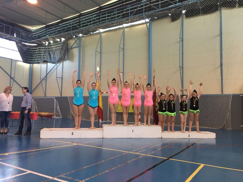 Campeonato interescolar de gimnasia rítmica