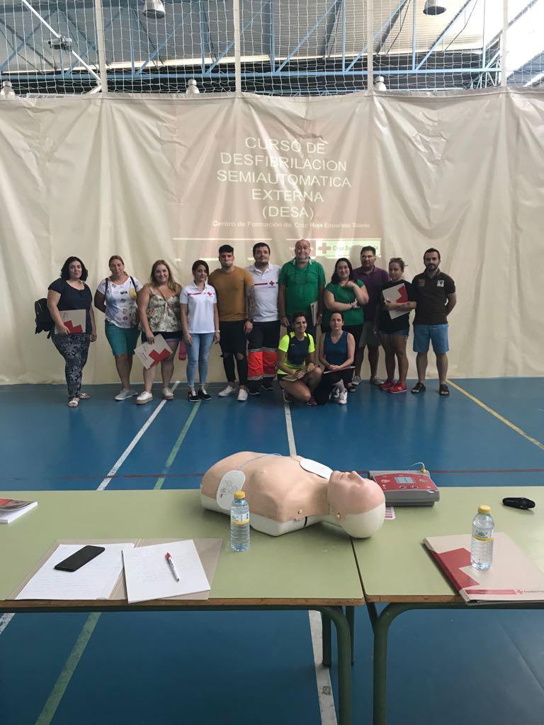 Se imparte la primera edición del curso de primeros auxilios y DESA en Nambroca