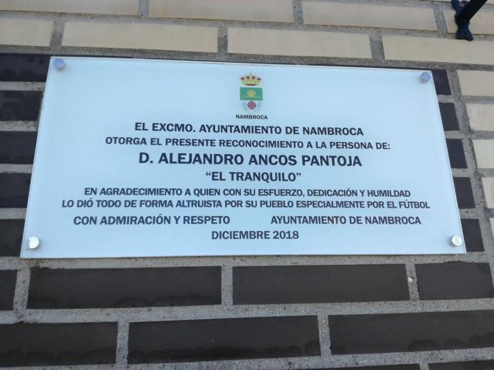 Homenaje a Don Alejandro Ancos Pantoja