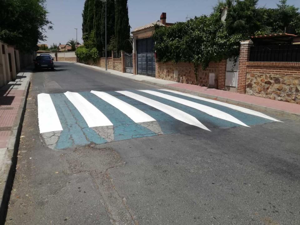 El Ayuntamiento de Nambroca realiza trabajos para mejorar la seguridad vial