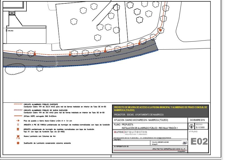 El Ayuntamiento mejorará el acceso a la Piscina Municipal y el alumbrado del Prado conceji