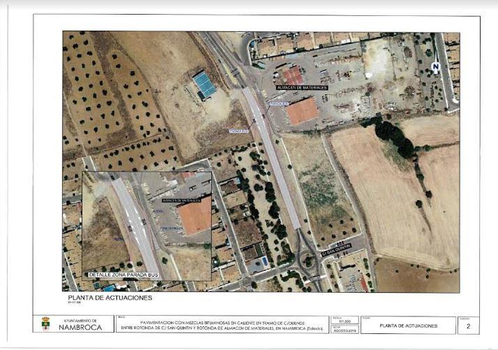 El Ayuntamiento repavimentará la travesía y construirá una parada de autobús en Señorío de Orria